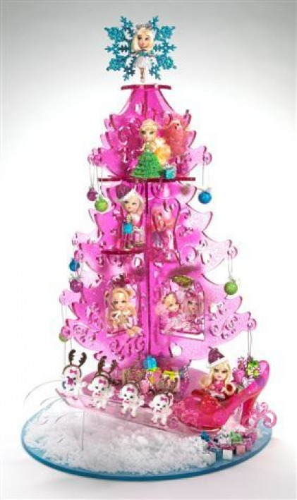 Barbie 174 Mini B Xmas Tree Barbie Peekaboo Petites